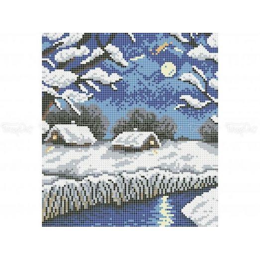 10-404 (20*25) Зимушка-зима. Схема для вышивки бисером Бисерок