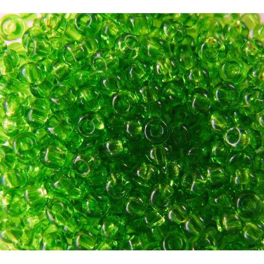 50430 Бисер прозрачный, салатовый, натуральный