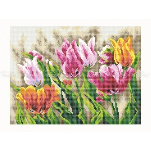 30-350 (30*40) Тюльпаны. Схема для вышивки бисером Бисерок
