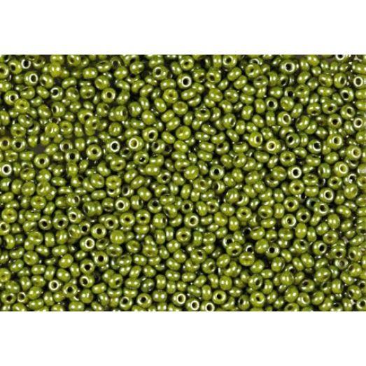 54430 Бисер Preciosa керамика светло-оливковый радужный