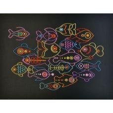 М-55014 Разноцветные рыбки. Набор для вышивки бисером ТМ Miniart Crafts