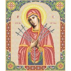 ВКР-12 Пресвятая Богородица Семистрельная. Схема для вышивки бисером. Княгиня Ольга