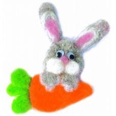 В-002 Любитель морковки. Набор для валяния ТМ Чаривна Мить