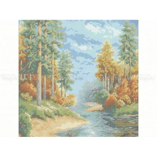 10-211 (40*60) Осень пришла. Схема для вышивки бисером Бисерок