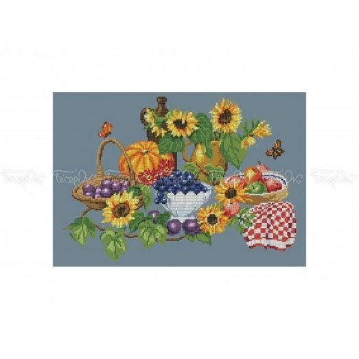30-328 (30*40) Осенний натюрморт. Схема для вышивки бисером Бисерок