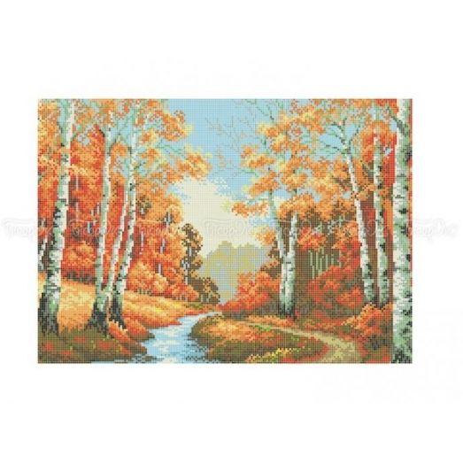 10-374 (30*40) Осенний лес. Схема для вышивки бисером Бисерок
