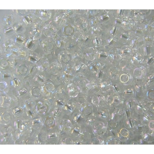 58205 Бисер прозрачный кристалл блестящий с радужным переливом