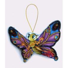 F-009 Бабочка. Набор с фетром для вышивки бисером Butterfly