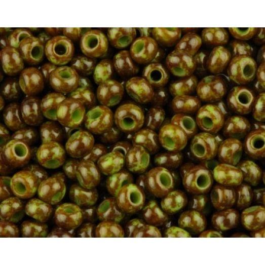 59310 Бисер Preciosa зеленый травертин