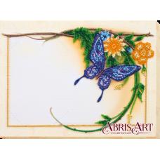 АР-006 Набор-фоторамка Голубая бабочка. Набор для вышивки бисером Абрис Арт
