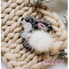 AD-026 Зайка. Набор для вышивки бисером украшения ТМ Абрис Арт