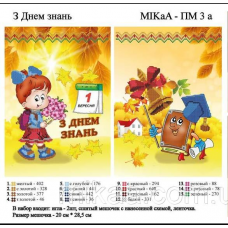 МИКА-ПМ-03а Большой подарочный мешочек - З днем знань- для девочки (укр.яз.)