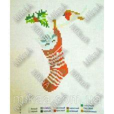 МИКА-К-029 Новогодние дремы. Канва для вышивки нитками