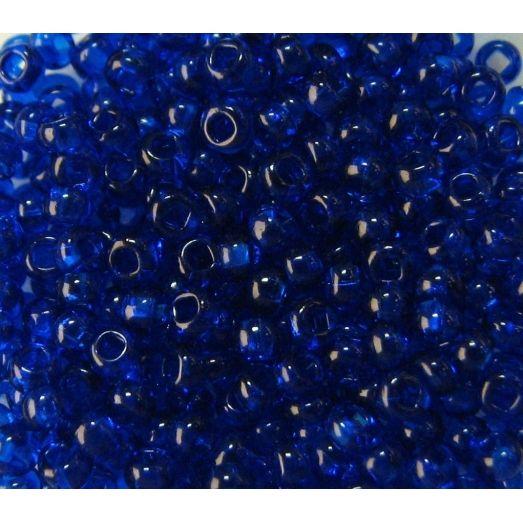 60300 Бисер прозрачный, синий