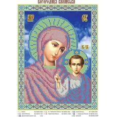ЮМА-047 Богородица Казанская. Схема для вышивки бисером