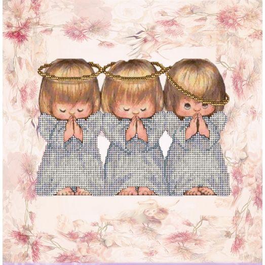 60916 Ангелочки. Набор для вышивки бисером Краса и творчество