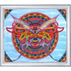 БФ-118 Мандала-бабочка. Набор для вышивки бисером Батерфляй