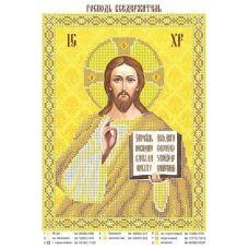 ЮМА-041 Исус Вседержитель. Схема для вышивки бисером