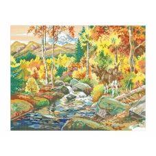 10-231 (40*60) Осень в лесу. Схема для вышивки бисером Бисерок