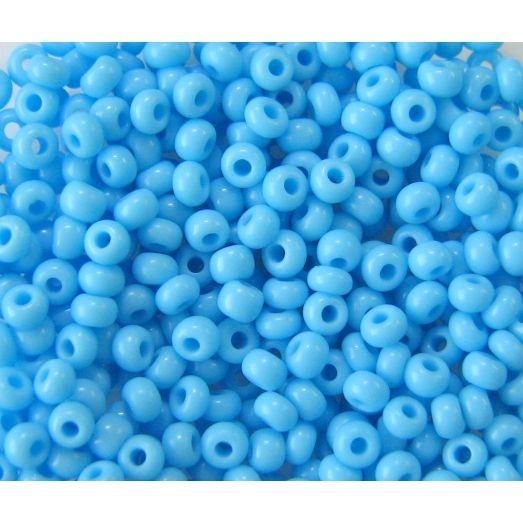 63020 Бисер непрозрачный голубой натуральный