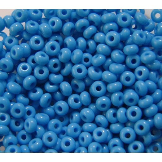 63050 Бисер непрозрачный, голубой, натуральный