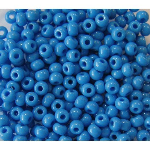 63080 Бисер непрозрачный натуральный синий