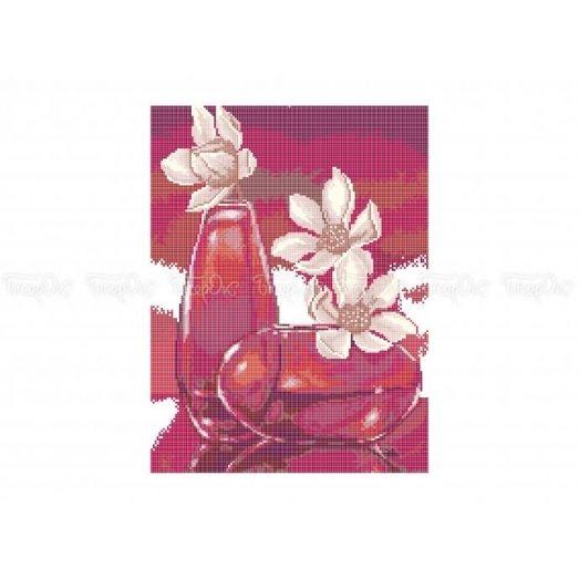 30-323 (30*40) Цветы в вазе. Схема для вышивки бисером Бисерок