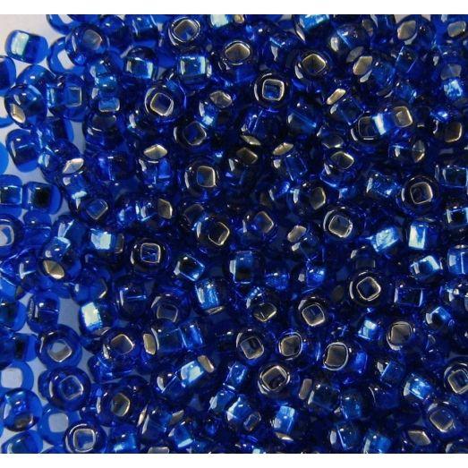 67300 / №490 Синий с серебряной серединкой