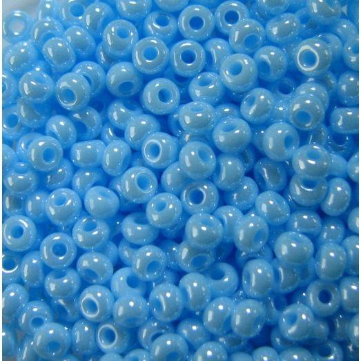 68000 Бисер непрозрачный, светлый голубой, перламутровый