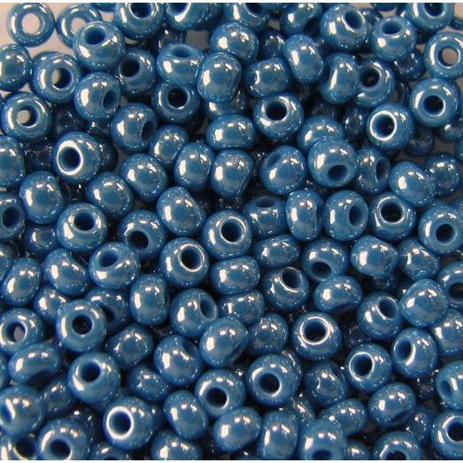 68080 Бисер серо-синий перламутровый.