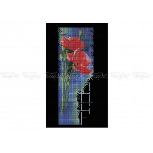 30-324 (30*40) Маки. Схема для вышивки бисером Бисерок