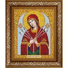ИС-4017 Пресвятая Богородица Умягчение злых сердец. Схема для вышивки бисером ТМ Славяночка