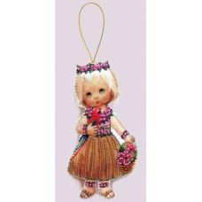 F-057 Кукла. Гавайи. Набор с фетром для вышивки бисером Butterfly