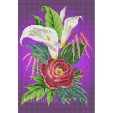 КБ-2009-3 Возвышенная любовь(фиолетовый фон). Схема для вышивки бисером. Каролинка ТМ
