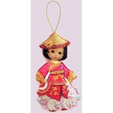 F-060 Кукла. Китай. Набор с фетром для вышивки бисером Butterfly