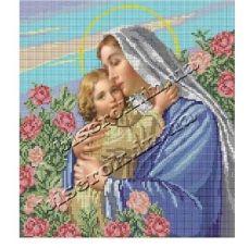 КРВ-05 Пресвятая Богородица Ласкавая Мать. Схема для вышивки бисером ТМ Княгиня Ольга