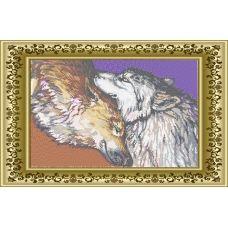 ЛВТ-011 Пара волков. Схема для вышивки бисером. Княгиня Ольга
