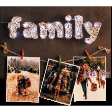 АВС-016 Счастливая семья. Набор стринг-арт ТМ Абрис Арт