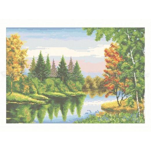 10-227 (40*60) Осенний лес. Схема для вышивки бисером Бисерок