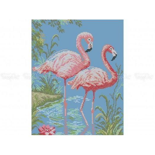 70-316 (30*40) Розовые фламинго. Схема для вышивки бисером Бисерок