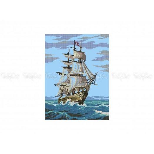 60-302 (30*40) Корабль. Схема для вышивки бисером Бисерок