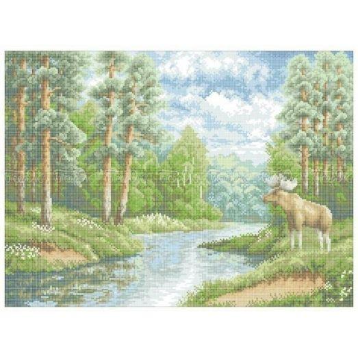 10-212 (40*60) Лесной смотритель. Схема для вышивки бисером Бисерок