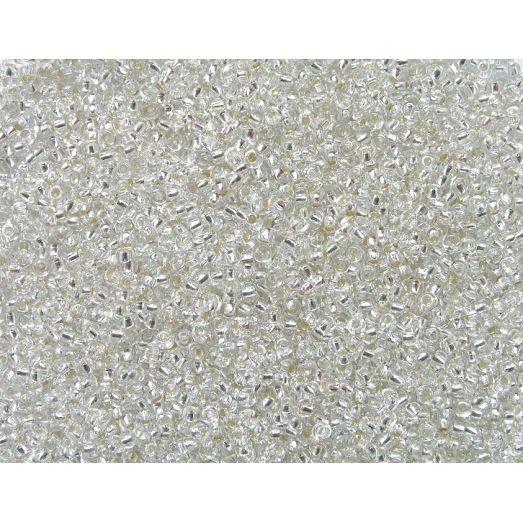 78102 / №301 Прозрачный с серебряной серединкой