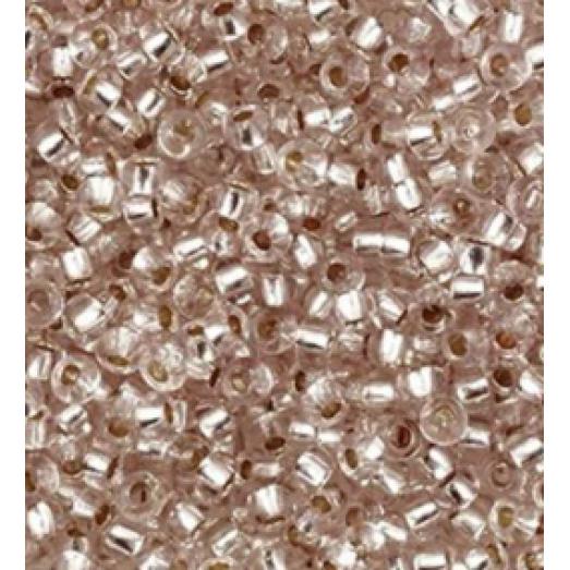78213 Бисер Preciosa прозрачный св.коричневый серебряная