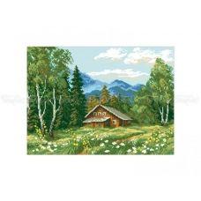 10-337 (30*40) Домик в лесу. Схема для вышивки бисером  Бисерок