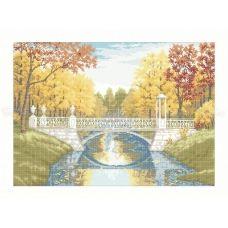 10-213 (40*60) Осенний парк. Схема для вышивки бисером Бисерок