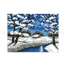 10-358 (30*40) Зимняя ночь. Схема для вышивки бисером Бисерок