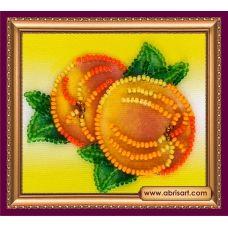 АМА-022 Спелые персики. Набор для вышивки бисером Абрис Арт