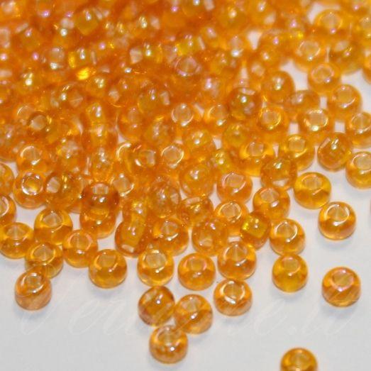 85068 Бисер Preciosa стеклянный мелованый оранжевый классика