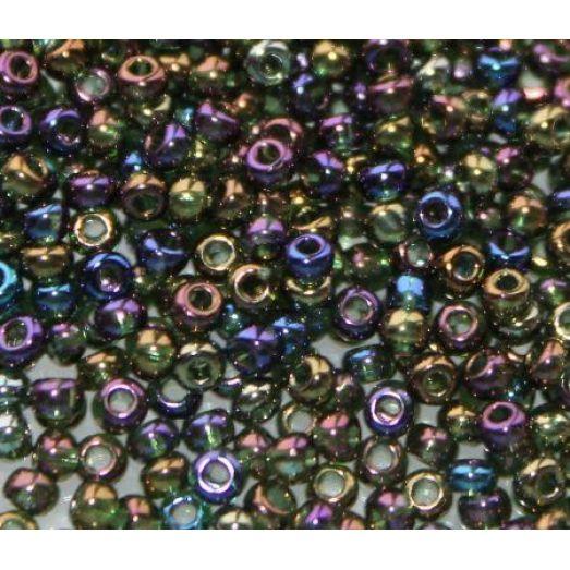51290 Бисер Preciosa светлый разноцветный прозрачный радужный